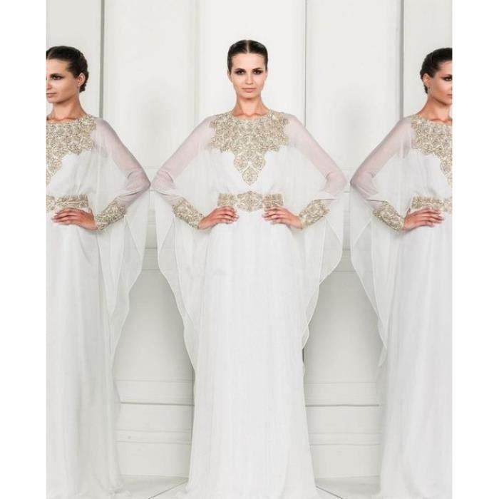 Robe de mariage-marié longue femme Caftan