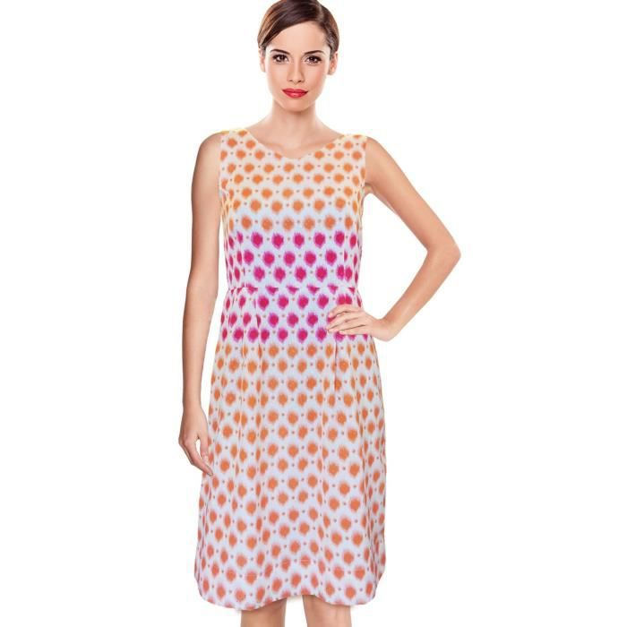 Womens Beforeafter Ikkat Print A-line Day Dress For #musthavedresses AB129 Taille-36