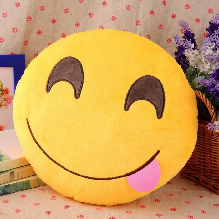 COUSSIN Coussin Emoji coussin mignon emotion poupée confor