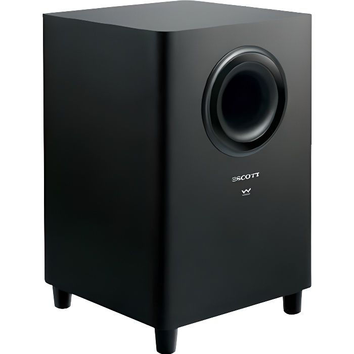 subwoofer sans fil sbx10 scott caisson de basse avis et prix pas cher cdiscount. Black Bedroom Furniture Sets. Home Design Ideas