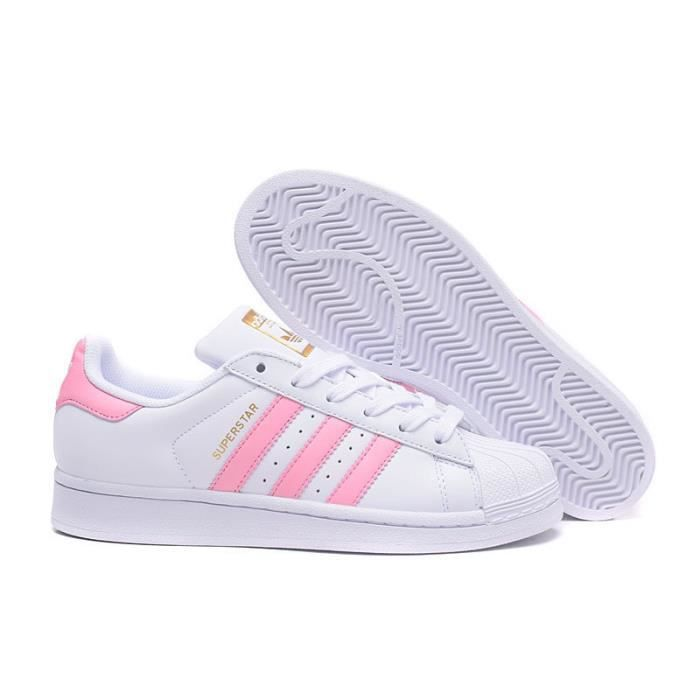 ... Blanc Rose Baskets Chaussures Junior Adidas Baskets Superstar Adidas Femme FgTTqzHw0R