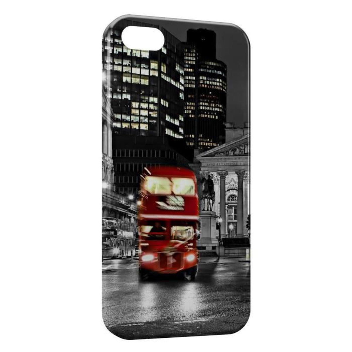 coque iphone 5 5s londres bus london rouge black