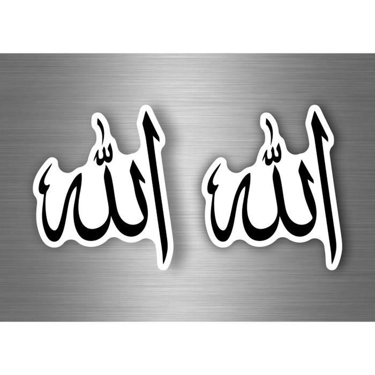 Stickers Islam Pas Cher 2x autocollant sticker voiture moto taille islam calligraphie arabe allah r1