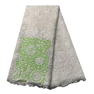 50*120cm 3D Mousseline Fleurs Gaze Dentelle Broderie Bordures tissu Craft