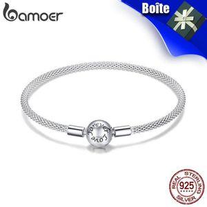 BRACELET - GOURMETTE BAMOER Bracelet Argent 925 Manchette Femme   Pando