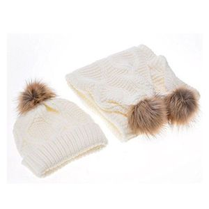 ECHARPE - FOULARD TDC Ensemble bonnet, écharpe et gants - Femme BLAN