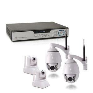 CAMÉRA DE SURVEILLANCE Kit vidéosurveillance 1 To avec 4 caméras HD IP WI