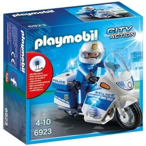 UNIVERS MINIATURE PLAYMOBIL 6923 - City Action - Moto de Policier av