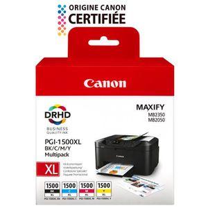 CARTOUCHE IMPRIMANTE CANON Pack 4 Cartouches PGI-1500XL  - Noire/C/M/Y