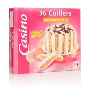 BISCUITS DIÉTÉTIQUES Lot de 36 sachets biscuits cuillers - Aux œufs fra