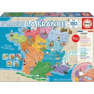 PUZZLE EDUCA - Puzzle - 150 DÉPARTEMENTS ET RÉGIONS DE LA