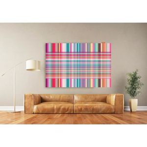 D coration xxl tableau design madras couleurs vives for Tableau design xxl