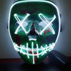 MASQUE - DÉCOR VISAGE Le masque d'Halloween LED allume le masque drôle d