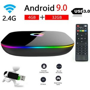 BOX MULTIMEDIA Android 9.0 TV Box, Q Plus Smart Box Allwinner H6