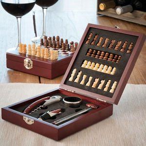 COFFRET SOMMELIER SHOP-STORY - Ensemble d'accessoires à vin et échiq