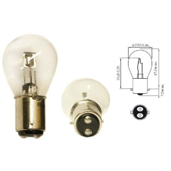 AMPOULE 12V 35W DICHROIQUE MR16 G030 BLANC MOTO SCOOTER MOBYLETTE AUTO FEU ADDITIONNEL PHARE LAMPE DICHROIC HALOGENE