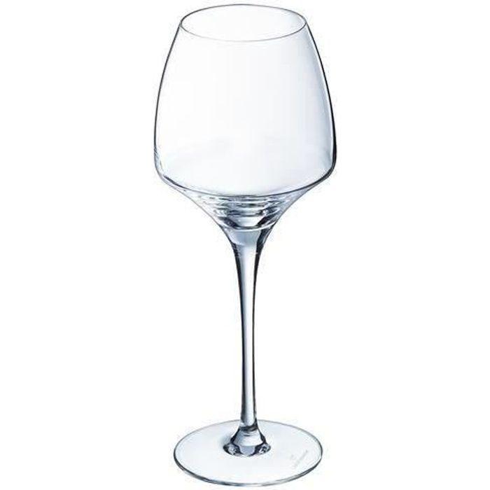 6 verres à vin universel 40cl Open Up - Chef&Sommelier - Cristallin design original 30% plus résistant