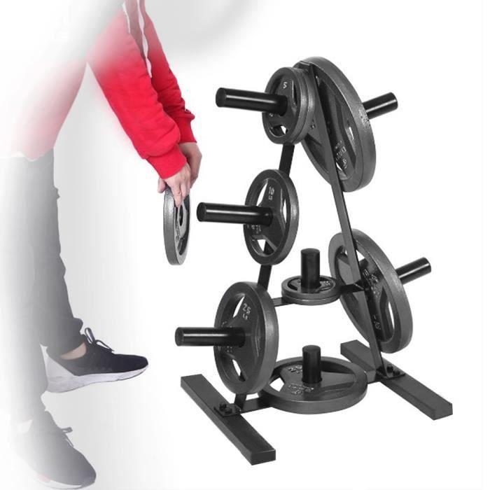 RUII Rack de Rangement pour Poids, Range Disque d'Haltères, Support de Fitness, Musculation