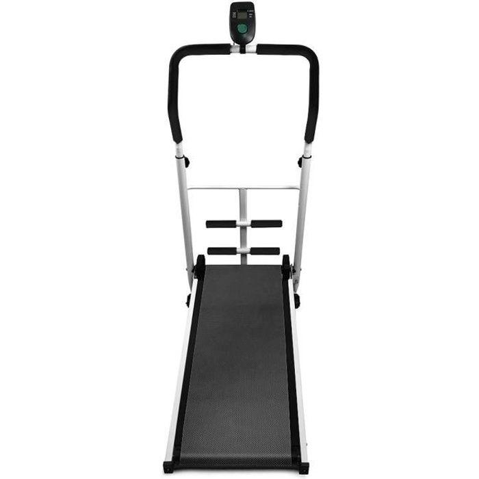 Tapis de Course Pliable Mécanique pour Marche, Jogging et Fitness, 145x54x110cm,Noir