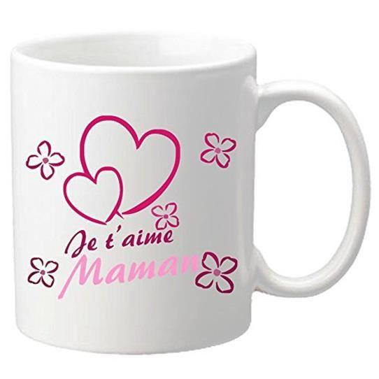Je t'aime Maman - Cadeau pour la fête des Mères, Noël, Anniversaire, Pâques, Baptême