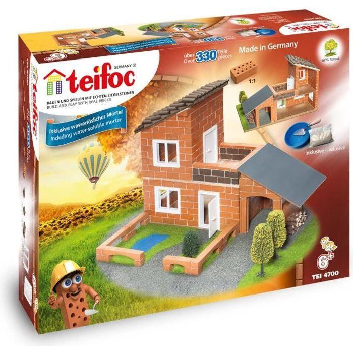 Jeux de construction Teifoc Construction Briques - T4700 - Villa avec garage 52018