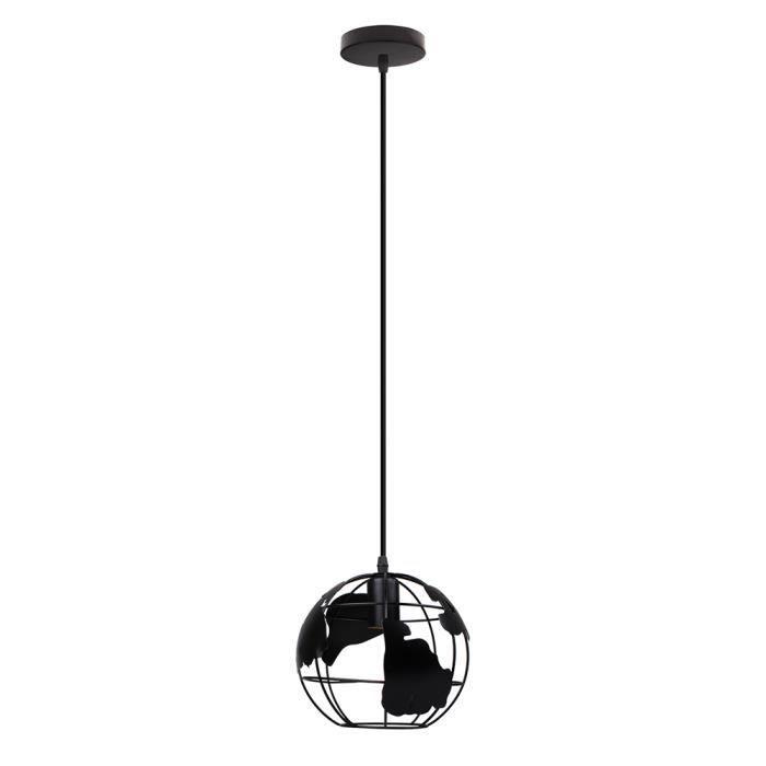 Yote Lustre Suspension Globe Industrielle E27 Rétro Lampe Plafonnier en Métal pour Restaurant Salon