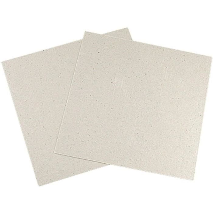MICRO ONDES FMN-Home, 2 x Remplacement 12 x 12 cm Plaque mica pour Micro-Ondes400
