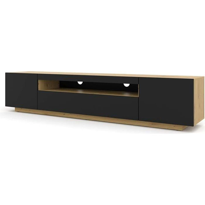 BIM Furniture Meuble TV bas 200 cm, fabrication artisanale Chêne-Noir[29]