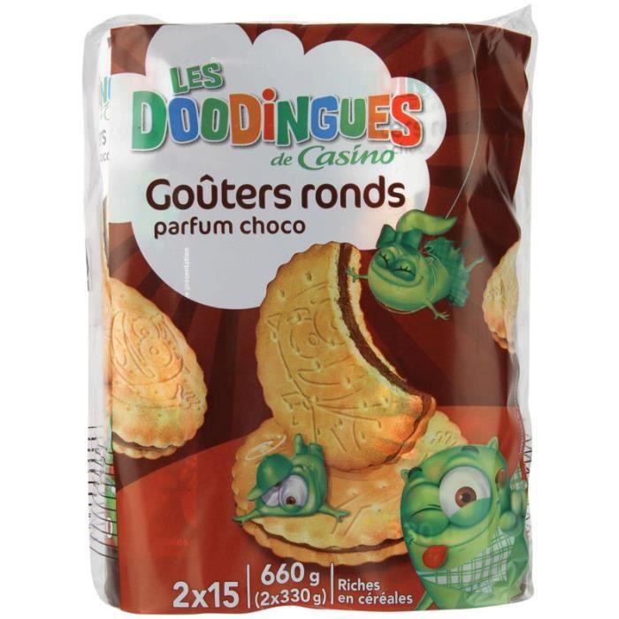 Gouters Lot de 2 ronds choco - Fourré chocolat - 330g