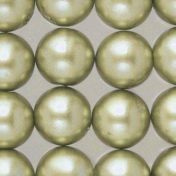 Perles nacrées de diam. 3 mm, Lot de 125 Perles en plastique ciré - vert clair