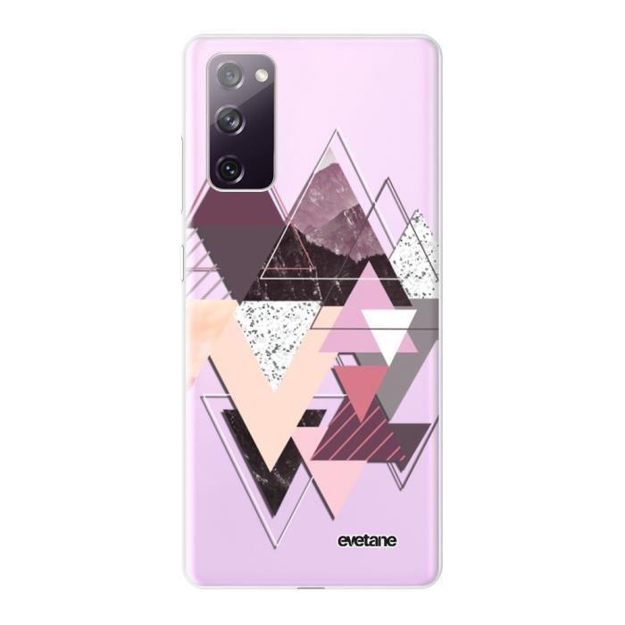 Coque pour Samsung Galaxy S20 FE 360 intégrale transparente Triangles Design Tendance Evetane.