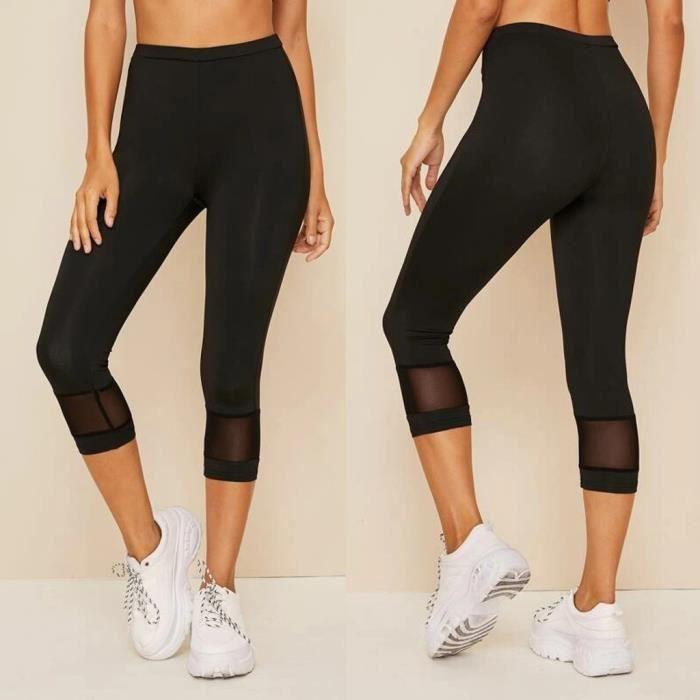 PANTALON Femmes évider Splice Tight Fitness Leggings Yoga Cropped Pants Trousers ZHB91217496S_381