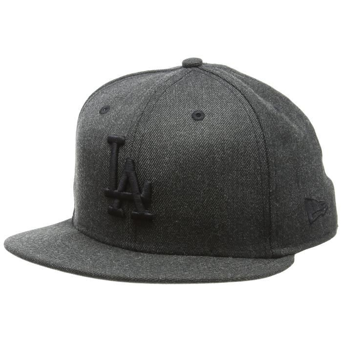New Era Hommes 59FIFTY Mlb Casquette Tonal Heather Fitted Los Angeles Dodgers Noir Black 7 12 - 59,6cm (L)