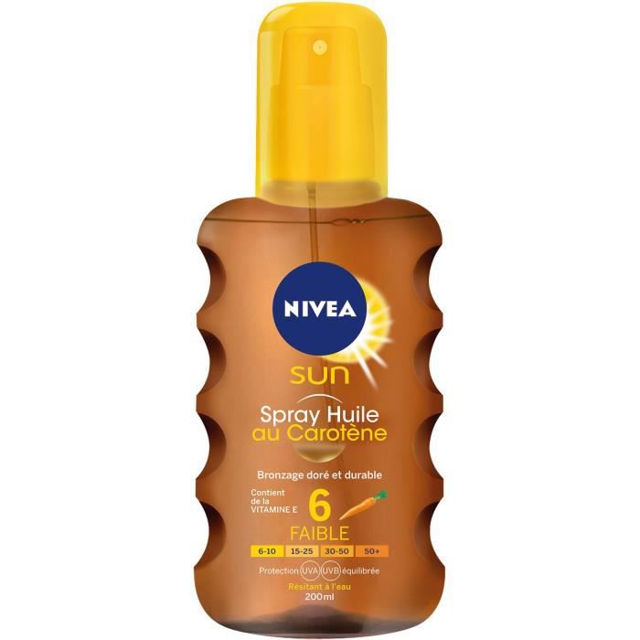 NIVEA SUN Huile Protectrice en Spray FPS 6 - 200 ml