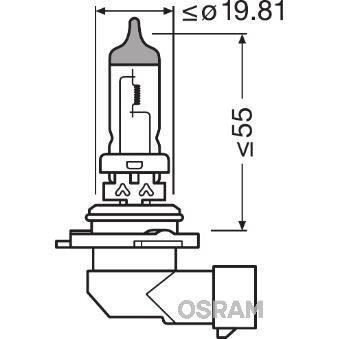 OSRAM Lampe de phare halogène Original Hb4