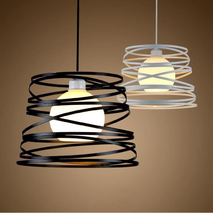 Lustre Rétro en forme de Ressort Suspensions à Plafondu Lampe en Fer Style Industrielle Vintage Luminaire, E27