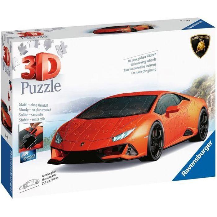LAMBORGHINI Puzzle 3D Huracán EVO - Ravensburger - Véhicule 108 pièces - sans colle - Dès 8 ans