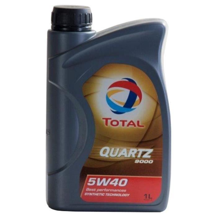 Huile moteur Total QUARTZ 9000 5W-40 1 Litres Boîte