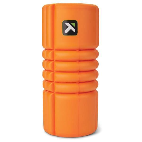 Petit rouleau de massage en mousse Grid Travel de TriggerPoint, soulage et libère les points gâchettes des muscles tendus, Orange