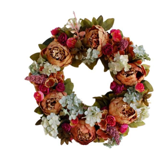 Luxe Mariage Coeur Couronne de Fleurs Guirlande Mariage Fête Violet 18 cm