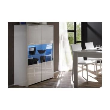 meuble vitrine design en verre pour collection laqu e blanche pas cher vespasiano achat. Black Bedroom Furniture Sets. Home Design Ideas