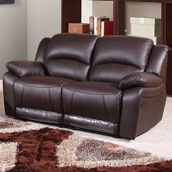 canap 2 places cuir chocolat valence achat vente canap sofa divan cdiscount. Black Bedroom Furniture Sets. Home Design Ideas