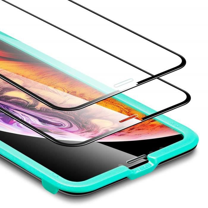 Protection /écran Film 3 Pi/èces Installation Facile Cadre dAlignement avec Garantie de Remplacement /à Vie sans Bulles Max Coverage LK Verre Tremp/é pour iPhone 7 // iPhone 8,