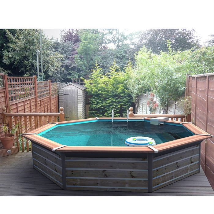 Piscine bois alu for Piscine semi enterre bois