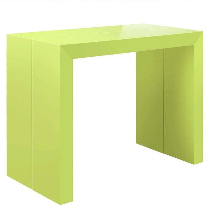 table console extensible pas cher 250 cm vert l achat. Black Bedroom Furniture Sets. Home Design Ideas