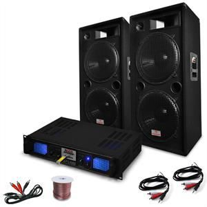 pack sono complet dj pa ampli enceintes 3000w amplificateur hifi avis et prix pas cher. Black Bedroom Furniture Sets. Home Design Ideas