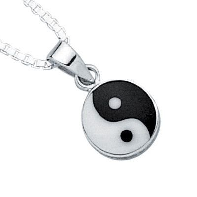 Pendentif ying yang lune soleil argent achat vente for Meuble ying yang