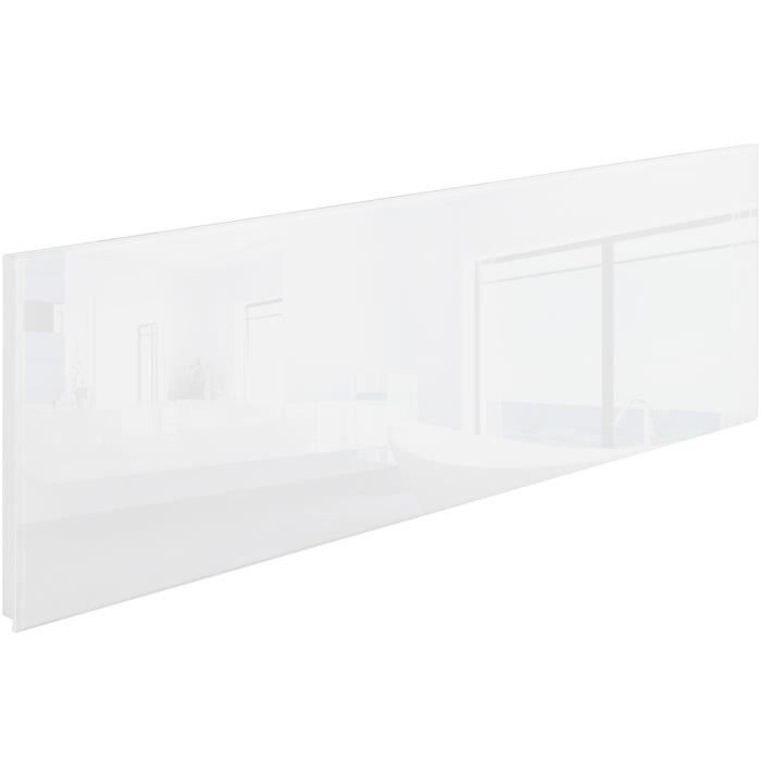 chauffage lectrique mural rayonnant infrarouge en verre 1220 mm x 420 mm 550w tectake blanc. Black Bedroom Furniture Sets. Home Design Ideas