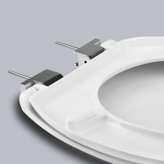 Verres De Toilette En R/ésine Ur/ée-Formald/éhyde-Coquille De Perle Abattant Wc Avec Abaissement Automatique Avec Abaissement Lent Et Fonction De Fermeture En Douceur
