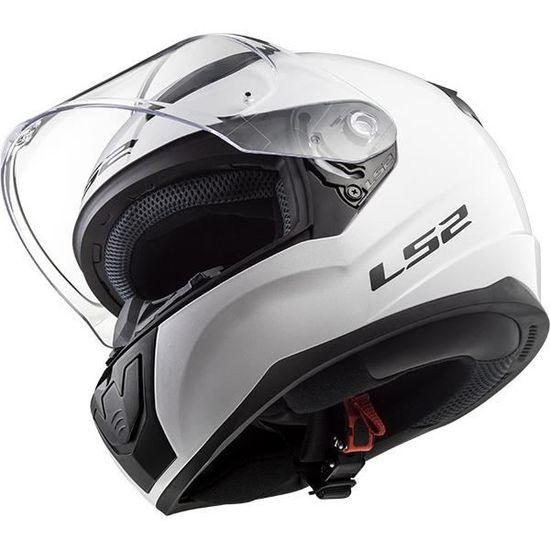 L LS2 Casque moto RAPID Blanc Blanc